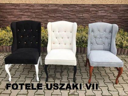 Fotel USZAK  Producent  Drewniane Bukowe Pikowany , Nogi Ludwik