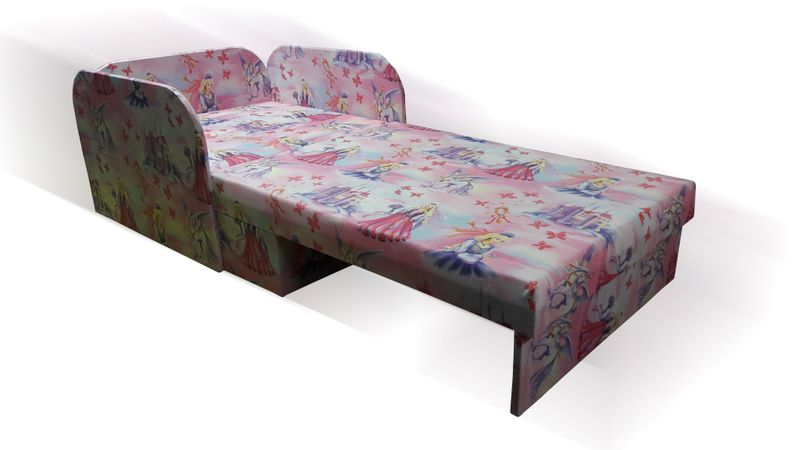 Łóżko, fotel , tapczanik dziecięcy z pojemnikiem na pościel zdjęcie 5