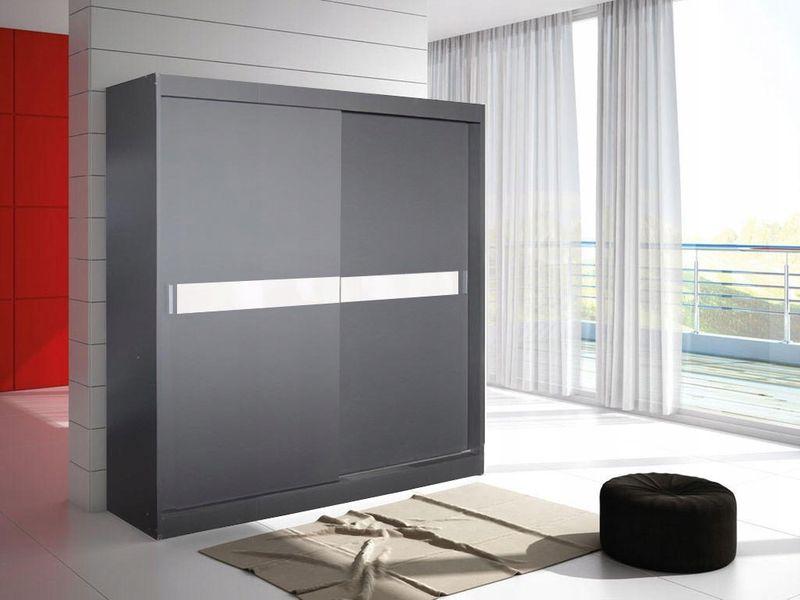 Szafa przesuwna lustro ERYK 2A 150cm -17szerokości - 11 kolorów zdjęcie 16
