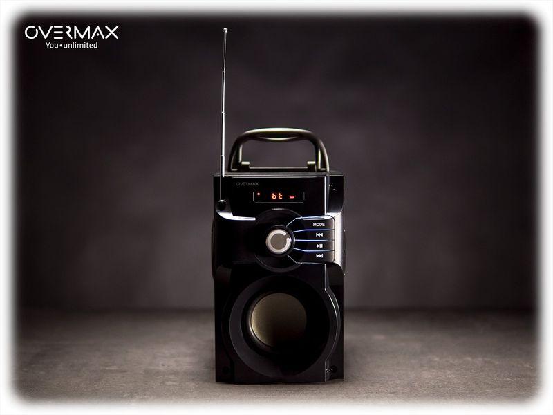 OVERMAX Soundbeat 2.0 - Głośnik Bluetooth USB SD AUX Radio PRZENOŚNY zdjęcie 3