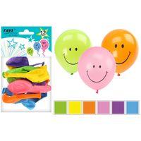 Balony lateksowe z nadrukiem kolorowe 12 sztuk 25 cm