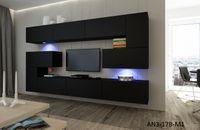 Matowa meblościanka ALBANIA N3 idealna do salonu szafki RTV LED meble