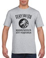 Koszulka męska ZNAK ZODIAKU SILNY JAK LEW s XL