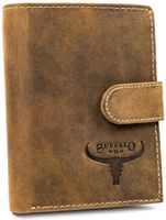 Pionowy portfel męski ze skóry naturalnej bydlęcej, Buffalo Wild