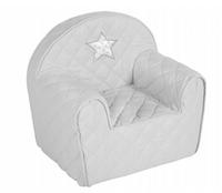 KLUPŚ Fotelik Dla Dziecka Fotel Pufa z Oparciem szary