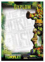 Dyplom A4 1szt. Wojownicze Żółwie Ninja szkolny wyróżnienie nagroda