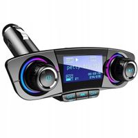 TRANSMITER FM BLUETOOTH 5.0 LCD ŁADOWARKA USB MP3