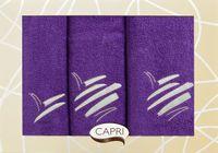 Komplet 3 ręczników ELIZA śliwkowy
