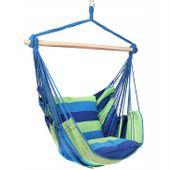 Krzesło brazylijskie wiszące Hamak z poduszkami