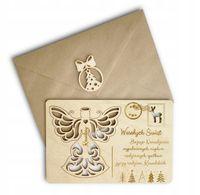 Pocztówka kartka prezent ozdoba na choinkę