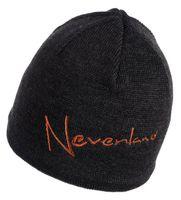 Czapka NEVERLAND NOTE czarno-pomarańcz. MerinoWool