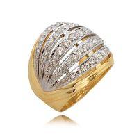 Elegancki pierścionek na prezent Rozmiar - 31, Kolor złota - Białe złoto