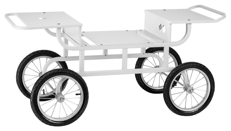 Wózek do waty cukrowej - 2 półki Royal Catering RCZT-01W zdjęcie 2