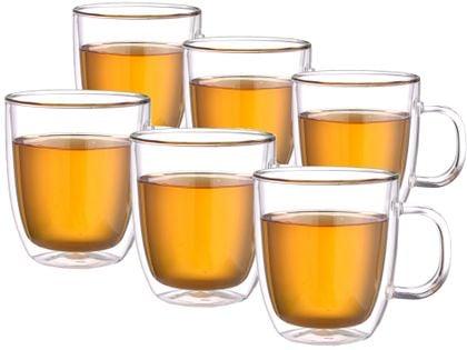Szklanki Termiczne do Kawy Herbaty 480ml z Uchem Extra Tea 6 sztuk