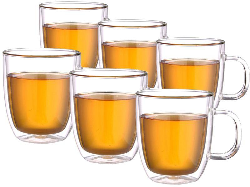 Szklanki Termiczne do Kawy Herbaty 480ml z Uchem Extra Tea 6 sztuk zdjęcie 1