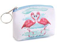 Mały portfelik - etui na zamek Flamingi