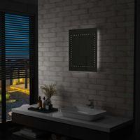 Ścienne lustro łazienkowe z LED, 50 x 60 cm