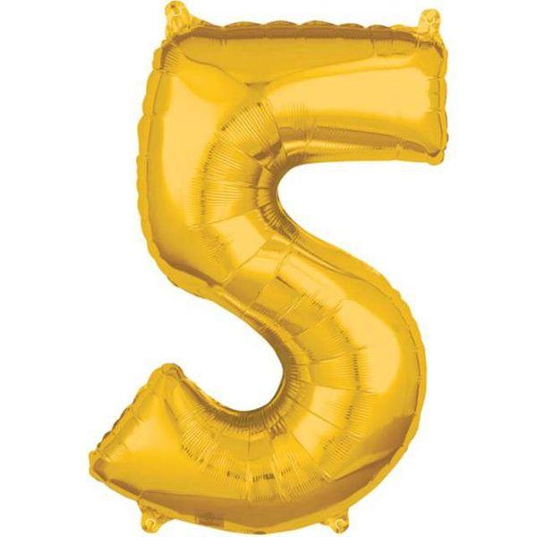 Balon foliowy CYFRA liczba 5 na URODZINY złoty XL • Arena.pl ea7b8f84fd7ba