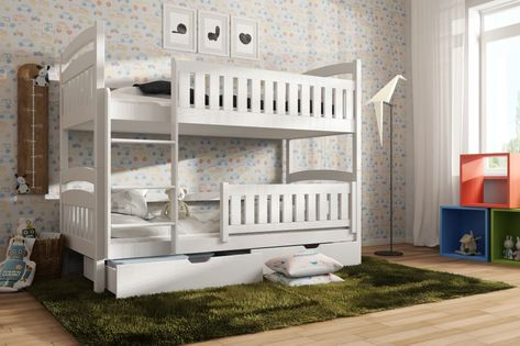 Łóżko piętrowe dwuosobowe IGNAŚ pod materac 70x170
