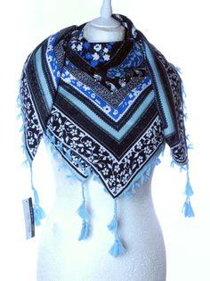 Wzorzysta chusta apaszka ornamenty etniczne Wiosna