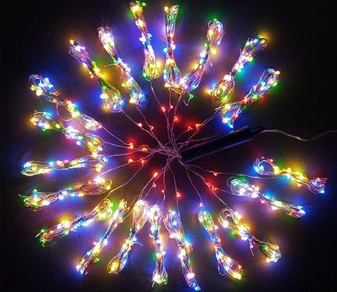 Lampki Na Druciku 20 Wiązek Po 25 M 500 Led Zewnętrzne Oświetlenie świąteczne Nr 0232 Wybierz Kolor światła Multikolor