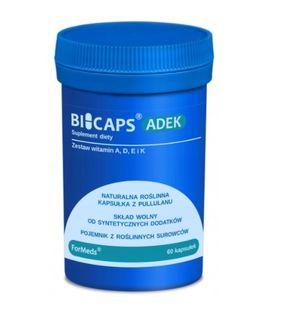 Bicaps Adek witamina A D E K2 MK-7 odporność vege