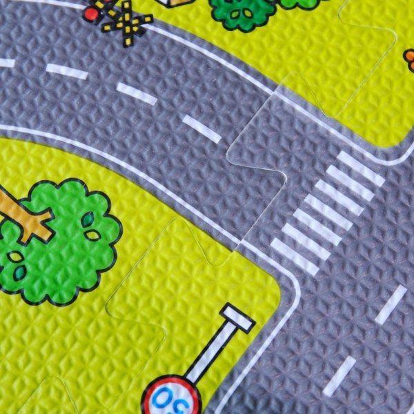 Duże puzzle piankowe mata dla dzieci ulica zdjęcie 6
