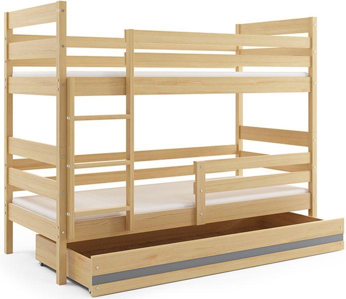 łóżko Piętrowe Eryk 200x90 Dla Dzieci Drewniane Dziecięce Dwuosobowe