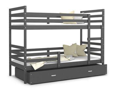 Łóżko piętrowe JACEK 160x80  szuflada + materace
