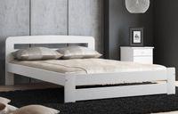 Łóżko sosnowe drewniane LIDIA 120x200 Białe stelaż