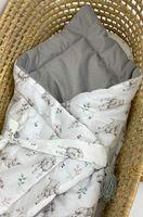 Rożek z tkaniny 100% bawełnianej premium - Owieczki z velvetem