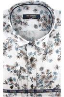 Koszula Męska Massaro biała nadruk w kwiaty na długi rękaw w kroju SLIM FIT A404 XXL 45 182/188