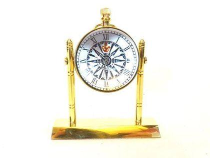Marynistyczny zegar mosiężny - kulka na podstawie NC2963