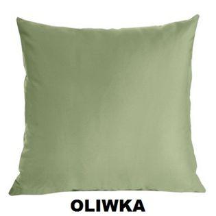 Poszewka Satynowa Jasiek 40x40 Suwak OLIWKA