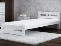 Łóżko wysoki zagłówek ESM2 90x200 białe + stelaż