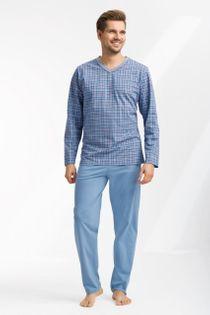Piżama męska LUNA kod 795 w serek niebieski roz. XXXL