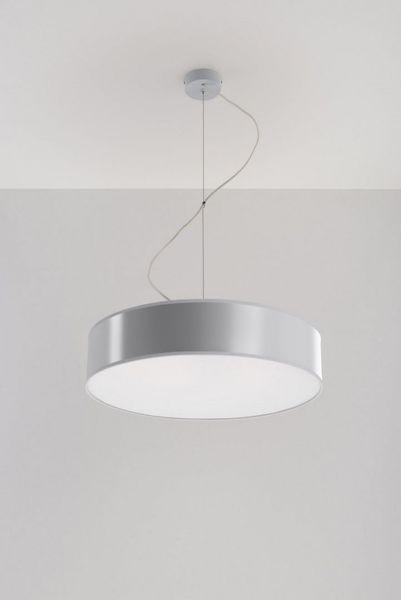 Lampa Wisząca Arena 45 Szara żyrandol Kuchnia Salon Pokój