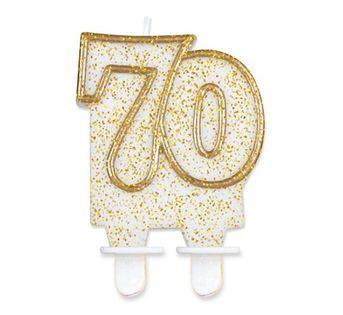 Świeczka Cyferka 70 na siedemdziesiąte Urodziny