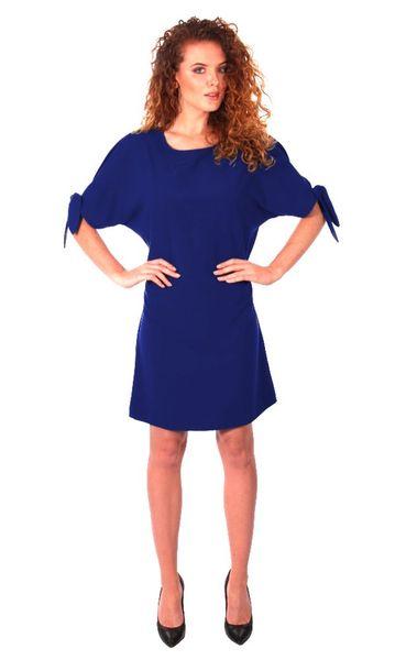 Luźna sukienka koktajlowa - chaber Rozmiar - 42 zdjęcie 5