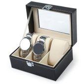 Pudełko Na Zegarki - Zamykane - Skóra