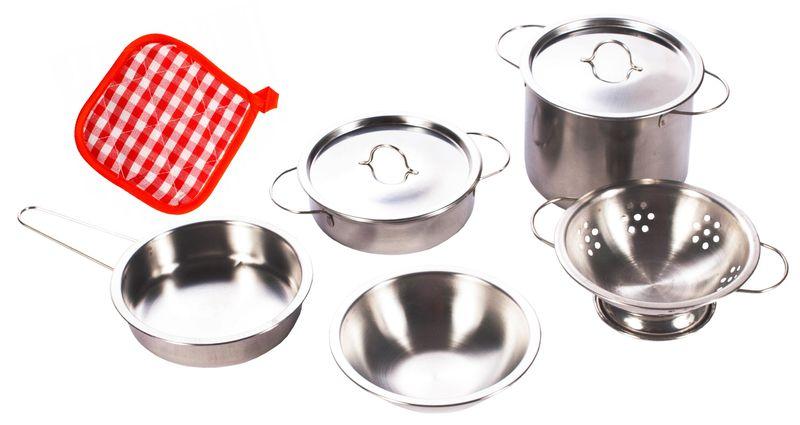Garnki metalowe dla dzieci akcesoria kuchenne zestaw 14 elementów U30 zdjęcie 3