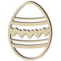 zawieszka decoupage Wielkanoc PISANKA serce x10