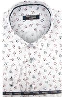 Koszula Męska Massaro biała we wzorki na długi rękaw w kroju SLIM FIT A412 XXL 45 182/188
