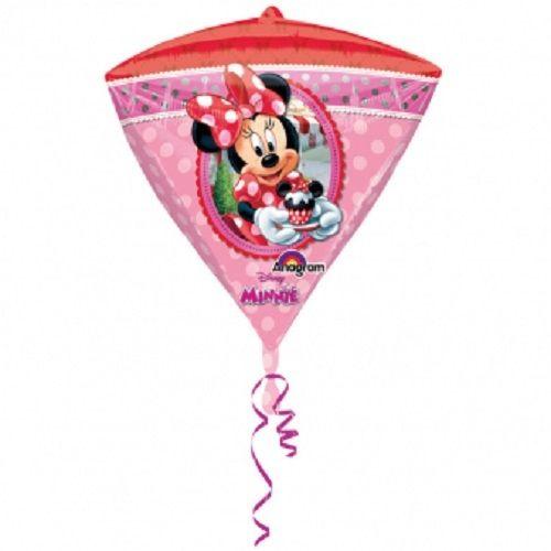 Balon foliowy diament Myszka Minnie 38x43 cm zdjęcie 2