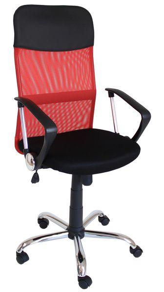 Fotel obrotowy krzesło biurowe kolor czerwony qzy-2501 zdjęcie 1