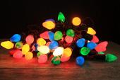 Lampki choinkowe KULE 20 LED  / KOLOROWE ŚWIĘTA