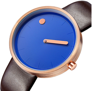Designerski zegarek GeekThink niebiesko-brązowy