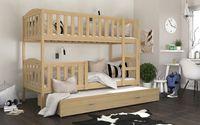 Łóżko piętrowe KUBUŚ 3 190x80 + szuflada + materace