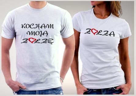 Koszulki dla par KOCHAM MOJĄ ZOŁZĘ