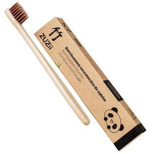 Zuzii szczoteczka bambusowa dla dzieci brązowa